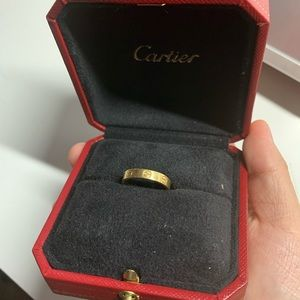 Cartier Love Ring Wedding Band Size 3 3/4